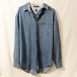 Vintage Tommy Hilfiger Denim Button Up Shirt XL